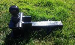 """5000 lb trailer hitch with 2"""" ball. Got new RV so no longer need. $50 obo. Moving must go!"""