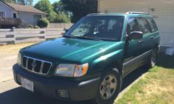 Make Subaru Model Forester Year 2001 Colour Green kms 241700 Trans Automatic 2001 forester AWD very reliable and tons of room. Back seat folds down flat for all your camping needs! New muffler, resonater, fuel filter. Always kept in tip top running