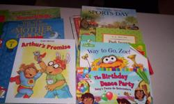 I have 50 childrens books for sale,15.00 for the lot.Many hard covers,all in great shape,Sesame street,Dora,Little Golden Books,Blue Clue's ECT,smoke free home,please see my other ads.