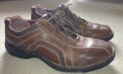 Size 11 men's shoes.Only worn once.Reliable Clark's brand.