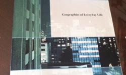 Selling my Geographies of Everyday Life Textbook by Elizabeth Carlson and Philip M. Coppack. 2010.The title page has a slight fold and is a little worn but inside the pages are in mint condition. Bought this book for $115 at the Ryerson bookstore. Selling