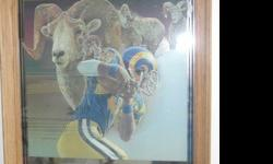 Perfect for man cave, bar, sports room, or an NFL memorabilia collector. Mirror has no scratches or chips. The Los Angeles Rams do not exist anymore as they are the St. Louis Rams now so that's what makes this piece special. If interested please email