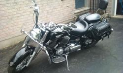 2005 Yamaha V-StarFeatures: All black Lots of chrome trim.Aftermarket slip on pipesHighway BarSaddle BagsNew Hand GripsThis bike was originally bought in Texas, and shipped up to Ontario by Ultimate Suzuki in London, where I purchased it. This bike is in