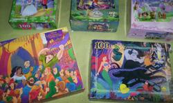 All puzzles are in great shape. No pieces missing. All 5 puzzles is for this price.