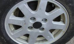 5 15 in rims, 4 bolt pattern, came off of my vw