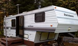 """Selling 1996 Duchman Clasic 5th Wheel Camper Trailer,with tip out -Fridge,freezer stove,oven,built in microwave,2-sink -Shower, toilet, and sink -Sleeps 6 Any outher Questions call 705-647-4207 looking for $4000.00 or B/O """"PLEASE CALL... DONT LEAVE POST"""""""