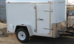 Custom Cargo Concept Inc. Biggest trailers inventory in Barrie SUPER CHRISTMAS SALE TILL FRIDAY DEC 30th 2011 GET UP TO 400$ OFF TO ALL OUR TRAILERS IN STOCK* call for details.   Manufacturer: ATLAS 2012 5x8 Single axle White One piece aluminum roof
