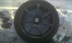 4 -215/45ZR17 - one year old rims, in good shape with little road rash. stored inside for winter. need new rubber, and are mutli stud, will fit many cars. need them gone soon. call 708- 4763 make me an offer!