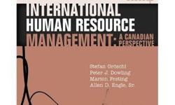 Required textbook for ADM 4338: International Human Resource Management. A Canadian Perspective. Stefan Groschl, Peter Dowing, Marion Festing, Allen Engle. Perfect