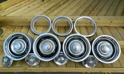 Selling a set of four 15x7 original GM 5 bolt rally wheels, these were originally on corvettes, chevelles, camaros, novas, el caminos and many more. These look great on trucks, street rods also. Set of four comes with the center caps and trim rings. Will