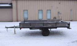 """6 1/2 x 10 utility trailer with ramps,12""""wheels,new springs and solid trailer. Every thing works hook up and go to work"""
