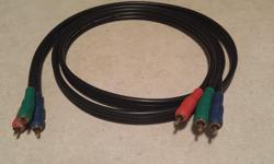 I'm selling a used 6' RGB Component Video Cable. Red, Green, Blue (RGB) for separate high quality video signal. Gold Plated RCA Connectors. Fully shielded and overmolded. M-M In perfect condition, just don't need it any more. Selling for $5.