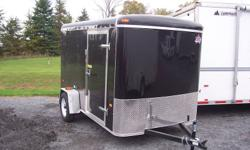 "NEW 6x10 US CARGO with ramp door, 15"" tires, 24"" stoneguard, 32"" side door, roof vent, (2) interior lights, 3/8"" walls, 3/4"" floor.   613 536 9546"