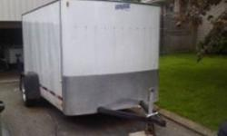 I am selling my 6x10 enclosed trailer. Trailer is in good condition. All lights work, tires in good shape. This would be perfect for small landscaping business or handy man to move his tools around. I am open to offers, but will not answer insulting low