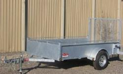 5?x 8? GENERAL DUTY TRAILER ? BRAND NEW Dura trail galvanized trailers or KargoMax painted trailers available Starting at $1595   Our General duty trailers come standard with ·         2990lb axel with EZ-Lube access ·         Swivel tongue jack ·