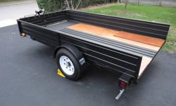 """Im selling my 6x10 trailer I used for my race car. It has a 3000lbs Winch (new in '11) mounted up front, It comes with 2 6' Steel loading ramps new in '11 only used twice. New 3/4"""" Plywood installed, 2 layers in rear, sealed to protect from water. I"""