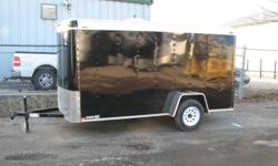 Custom Cargo Concept Inc. Biggest trailers inventory in Barrie Are you looking for a snowmobile trailer??? 3199$ till friday only Manufacturer: ATLAS 2012 6x12 Single axle 2 Black and 2 white in stock One piece aluminum roof 16''O.C walls structure Z-Tech