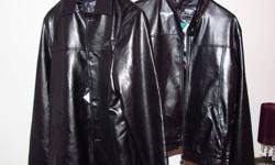 Two Brand New Faux Leather Jackets, I have a male and female, each are a size medium. Both are in excellent condition, never worn, still have the tags on them, they were a gift but are not our kind of style. I'm selling at 40 each or the pair for 70.