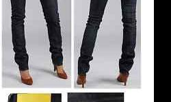 Wesc Eve Jeans. New w/o Tags, never worn. Size 25ladies' 5-pocket jean tight fit super low waist straight leg zip flyHard to find in stores.