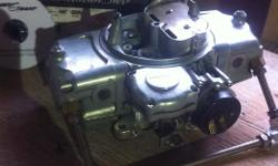 New 725 Road Demon carb, electric choke vacuum secondary's, Used for fire up of crate engine then swapped for a mechanical secondary carb, (due to no vacuum), never used since, paid 470+ tax on sale
