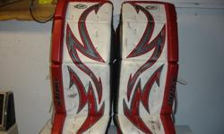 "I am selling my set of McKenney Pro Spec 870 pads 32""+1"", blocker and catcher. white/red/silver custom made in Canada. will only sell as a set."
