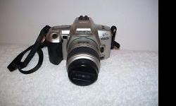 Minolta Maxxum QTsi 35mm SLR Camera camera with accessories and lenses all in good condition minolta maxxum lense AF 75-300 in box minolta lense AF 35-80 digital high def 0.5x wide angle-sorry no pic digital high def 2x wide anglesorry no pic digital