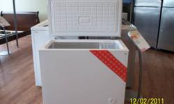 WHITE  FREEZER, HAS SOME SMALL DENTS   $175.00 PLUS TAXES   PLEASE CONTACT JOANNE OR COME IN TO SEE US