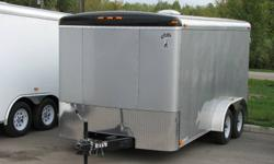 Custom Cargo Concept Inc. Biggest trailers inventory in Barrie Manufacturer: ATLAS 7x14 Tandem axle (3500lbs ea.) Color is pewter RAMP door Side door Int. light Roof vent E-Z lub hubs 15'' tires One piece aluminum roof 16''O.C walls structure Z-Tech