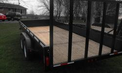 """TRUDEAU TRAILER SALES """"South-Eastern Ontario's Trailer Specialist"""" 1381 MIDLAND AVE, KINGSTON 613-507-4018 SOLID STEEL SIDES 2, 3500 LB AXLES W/ EZ LUBE! ELECTRIC BRAKES 4' MESH RAMP SEALED LIGHTING (WIRING IS ALL SHRINK WRAPPED AND HIDDEN) PLANK FLOOR"""