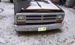'87 Dodge D100 for sale for PARTS ONLY . Box and Wheels are sold. Good running 318 good front clip and doors. Sliding rear window etc.. Open to offers and or trades