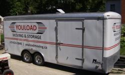 Selling an 8.5x20ft. cargo trailer/car hauler. Just got it in May 2011, less that one year old. Still in new condition  and lettering can be removed. Has rear ramp and light pakage, two 3500lb tortion axels. Dry weight only 3000lbs. Older trailers weigh