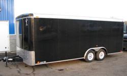 Custom Cargo Concept Inc. Biggest trailers inventory in Barrie   Manufacturer: ATLAS 2012 8.5x20 Tandem axle (3500lbs ea.) Torsion axles 15'' radial tires BLACK H-D ramp door 48'' Side door 4 Int. light 2 Roof vent E-Z lub hubs One piece aluminum roof