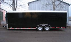 THIS DEAL WILL END JANUARY 31ST, 2012 HURRY UP!!!! HOT DEAL Manufactured by ATLAS 2012 8.5x24 Tandem Axle (5200lbs ea..) Black TORSION AXLE RADIAL TIRES One piece aluminum roof 16'' O.C walls structure 16'' O.C frame cross member 3/8 walls 3/4 Advantech