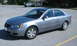 2008 Hyundai Sonata GL Sedan for sale4 Cyl, Excellent condition. Automatic, Power Steering, Power Brakes, Power Windows, Power Mirrors and Driver's Seat. A/C, AM/FM/CD player. 143,000 KMCertified & E-Tested, Car Proof CertificateCall Bob at 705-331-4519