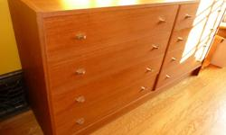 """Mid-Century Modern Danish Great Condition - Beautifuly grained teak Pristine drawers 59"""" wide 16"""" deep 30"""" high $700 or best offer do NOT contact me with unsolicited emails/services"""