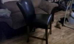 MOVING MUST GO!!    paid $2000 - asking $800      table set mint condition basically bran new 8 pub style chairs leather full back,  table is a dark wood square roughly 5 by 5 gorgeous   no strings attached moving must go!