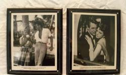 These Framed 8 X 10 movie pictures are from the National Screen Service and would have been displayed in the movie theatre lobbies. They are numbered and show the dates and names of the films and who starred in them. Movie titles are Ghost of drag strip