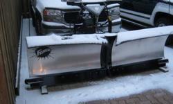 I have a new 8ft 6`` Fisher stainless steel V-plow i bought it new last winter and used it 6 times. This unit is awesome to plow with, and i will supply a wiring harness and frame horns for any brand of truck asking $6000 if interested or have any more