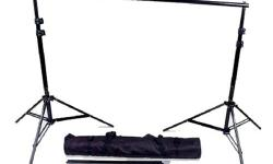 WHATS INCLUDED 2 x adjustable 8feet stands 1 x 4pc crossbar equivalent to 10feet in width 1 x carrying bag -- will support up to 30lbs of weight -- FAST & FREE SHIPPING AVAILABLE