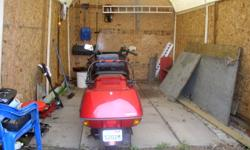 Honda Helix very good ride wheel base 86.5in seat 2up with back rest.certified last of June new front tire and battery. Reason for selling right leg amputee cant seem to work foot brake. This has a low seat 26  in. neice for us short people:: pictues to
