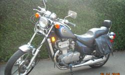 1992 Vulcan 500, 43K, belt drive, new clutch, battery, cam chain tensioner, freshly serviced carbs, ready to ride. Comes with saddlebags and removable windscreen. $1800. Firm.