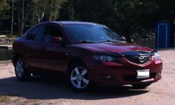 Mazda 3, 5 speed manual transmission 128500km Fully certified and emission tested New front and rear suspension, July 2012 New front brakes, March 2012 New rear brakes, December 2011 New all season tires, August 2012 Regular oil changes *Snow tires on