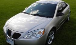 Selling (privately, save on tax!) a 2006 G6 GTP 4 Dr, silver exterior on black leather, car. It has a standard transmission 6 spd with only 95,000km on it (highway driven from Petawawa to Markham) and is in showroom condition (please see ACTUAL pics taken
