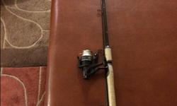 """Priced to sell. I have a Abu Garcia Rod & Reel Combo. Only used a couple of times. Still has the shrink wrap on the cork handle. Rod is a Graphite 6'6"""" Medium Action 4lb to 12 lb line and lure weight 1/8 oz to 3/8 oz."""