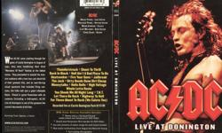 AC/DC Live At Donington DVD. Light wear on cover & booklet. 2 hours, concert from the Monsters Of Rock venue, recorded on Augusr 19, 1991. Includes a 5.1 surround sound mix. Pickup or mail out only, buyer pays shipping and cash preferred. $5