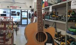 Beaver Creek BCB05 Acoustic Bass Available for viewing at Absolute Cash, located at 2916 Dewdney Avenue.