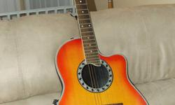 For sale is one 90's make acoustic ovation electric hyburn sunburst guitar. Guitar has single pickup and comes with a carry bag. Excellent condition, no scratches.   $400 or Best Offer   All serious offers and inquiries considered.   And check out my