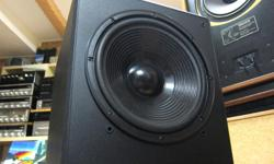 HIGH-END SUB, MADE IN CANADA WORKS AND SOUNDS LIKE NEW Nice shape, very clean, smoke-free Great sound, powerful and clean. Acoustic Profiles was a company operating out of the GTA back in the early 90s. They were part of Audiosphere / Dahlquist. This sub