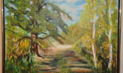 Acrylic Painting of Anglin Lake, Saskatchewan 1994 Title: Lone pine by artist: Kango Rivard signed 1994 18 x 24 Asking $50