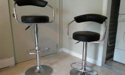 2 adjustable bar stools for sale. Moving away and need them gone. I paid $100 for each of them but will sell them for $30 each or $50 for both of them. Pick up only